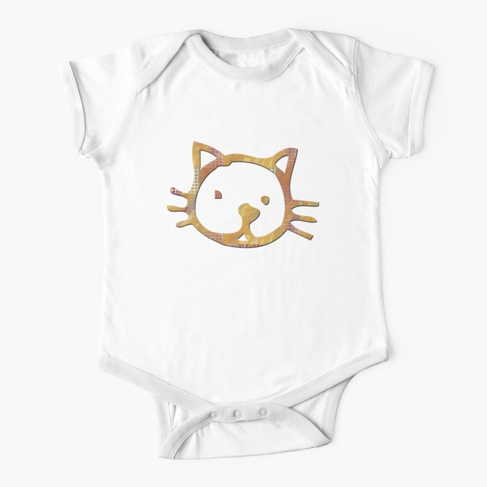 Cat Adorable Kitty Face Patchwork Pattern Kitten Kids Clothes By Natureinfocus In 2020 Cute Cats Patchwork Patterns Kitty Baby