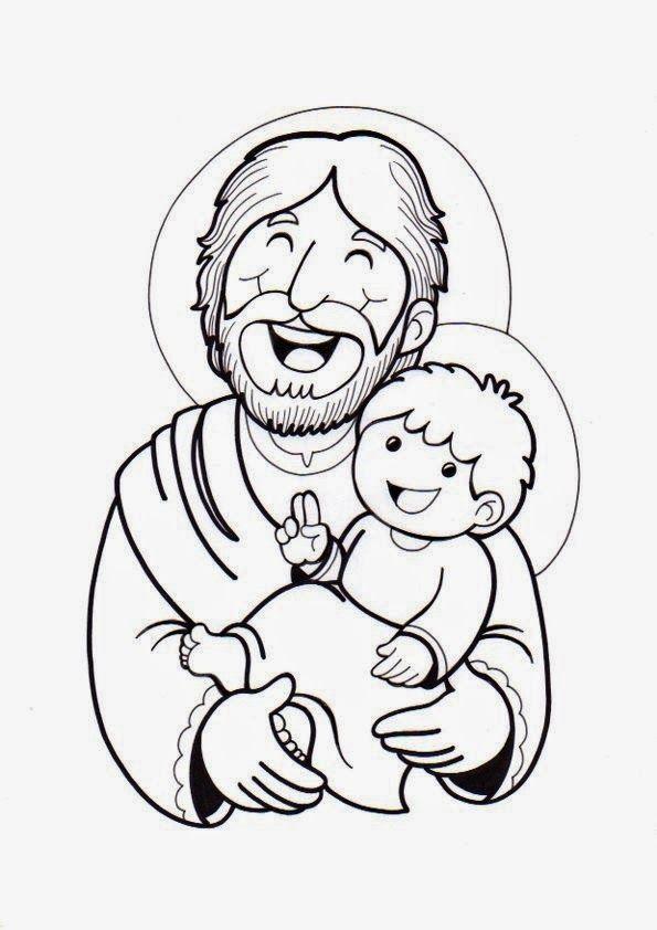 El Rincón de las Melli: Dibujo: San José | **STAMP RELIGIOSO (B/N ...