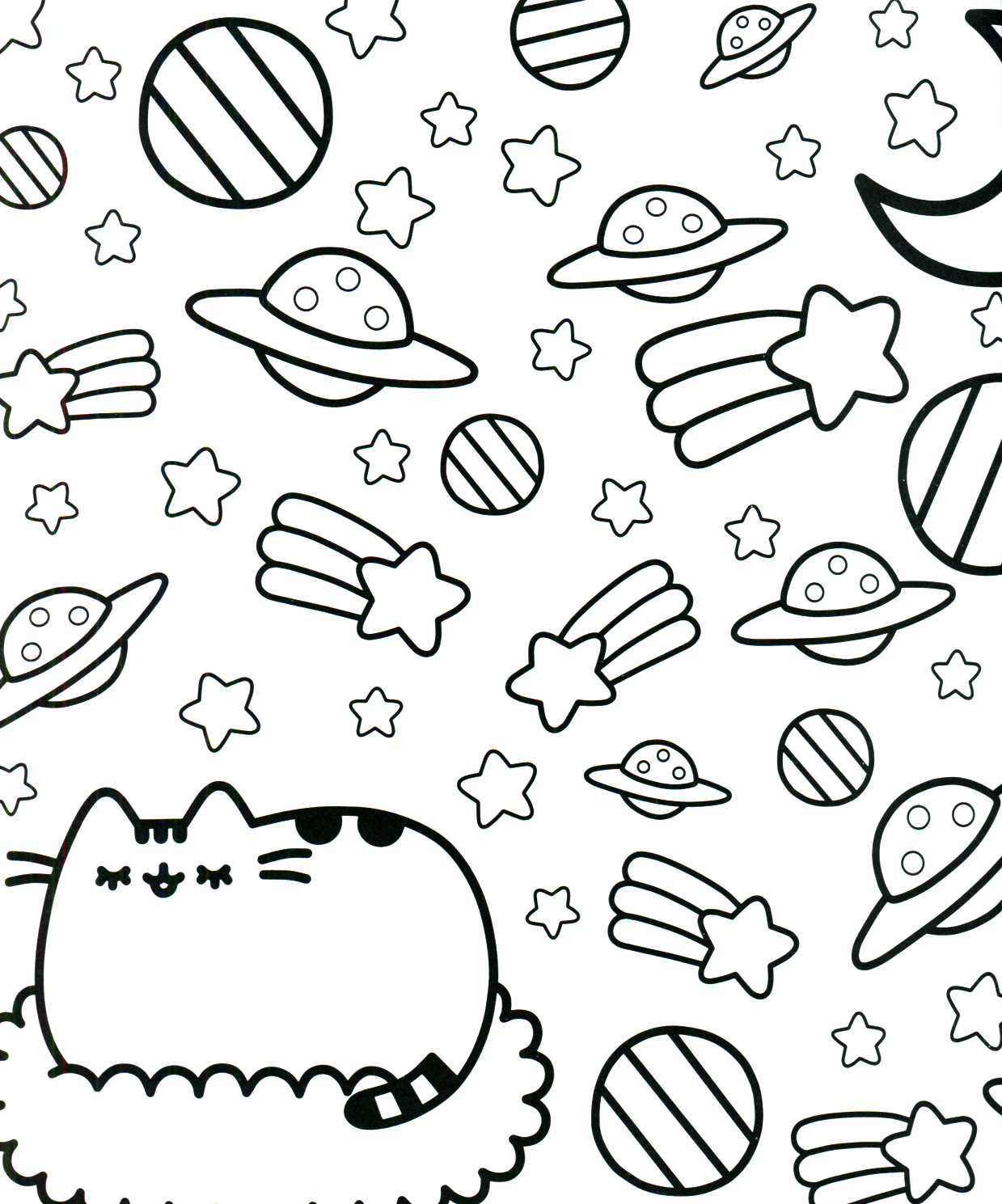 Pusheen Coloring Book Pusheen Pusheen The Cat Pusheen Coloring Pages Planet Coloring Pages Cat Coloring Page