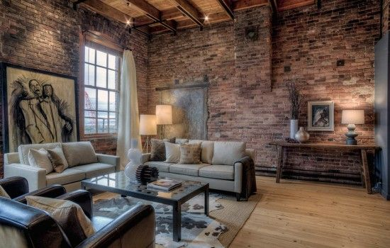 Exposed Brick Loft Design Ideas Google Search Industrial Chic