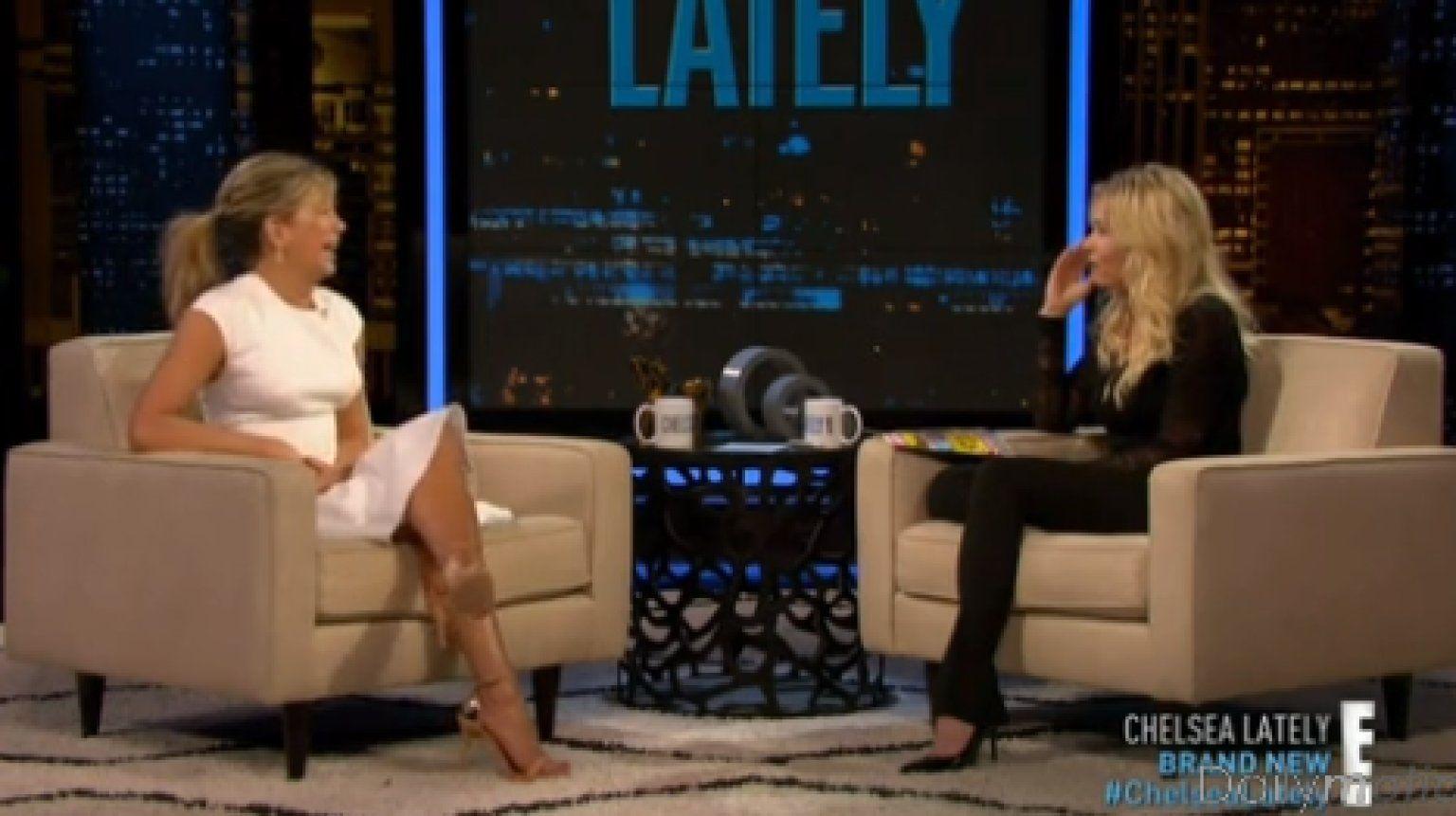 Watch Jennifer Aniston Chelsea Handler Diss Katie Couric Chelsea Lately Jennifer Aniston Katie Couric