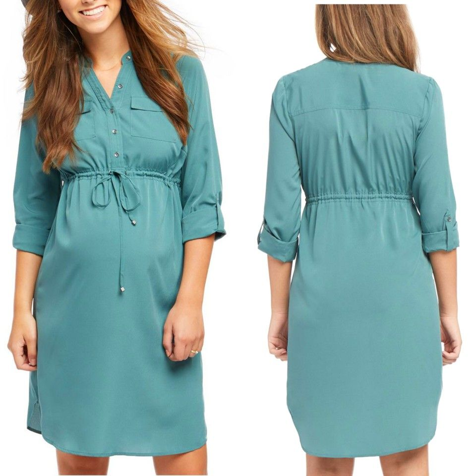 09aaf7981a9 Green Roll Sleeve Maternity Shirt Dress size 8 10 12 14 16  8000  www.questworld.com.ng www.konga.com QUEST-WORLD-BOUTIQUE 📲08025462685 Pay  on delivery in ...