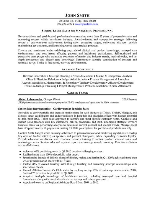 Senior Sales Representative Resume Template Want It Download It