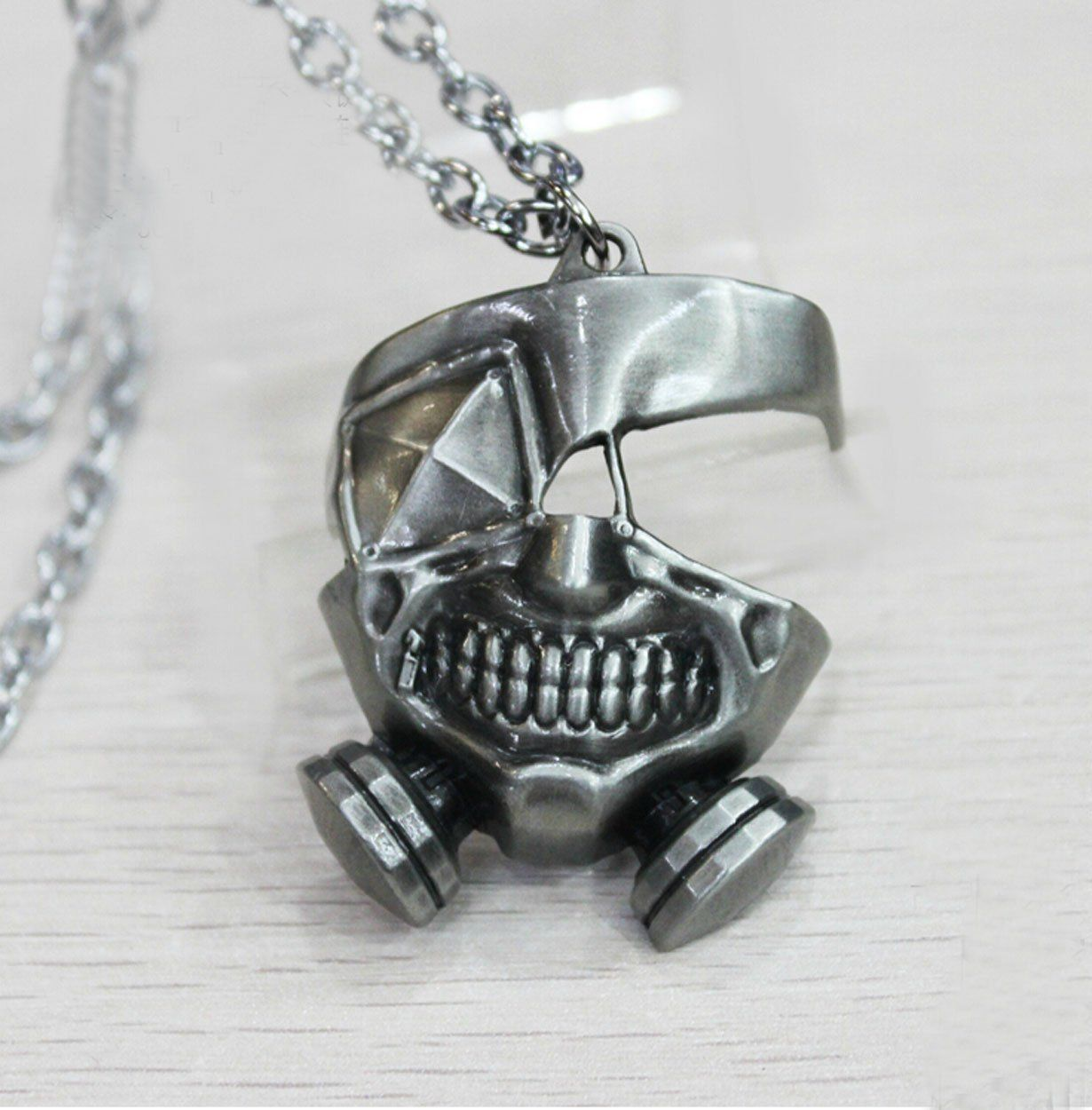 Relaxcos Tokyo Ghoul Ken Mask Logo Silver Necklace Cosplay * Read more at the image link.