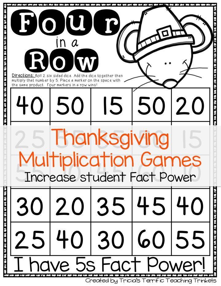 Thanksgiving Multiplication Games   Multiplication, Thanksgiving ...