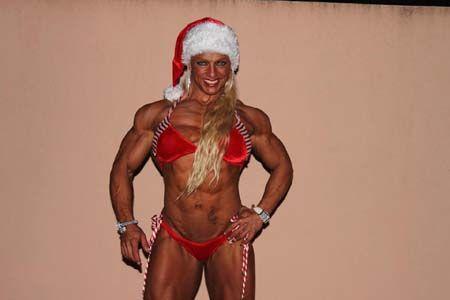 Muscle babes in santa hats   Sexy Santa Female