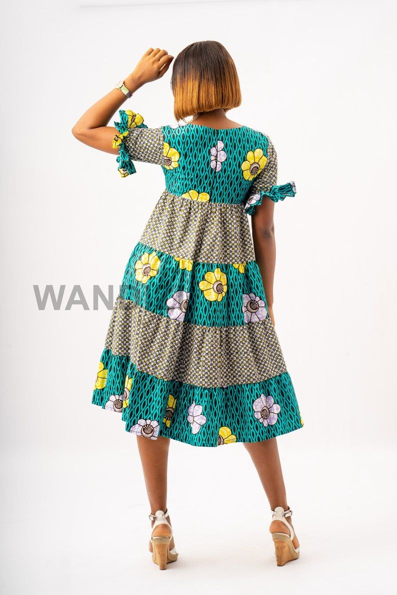 African Print Summer Flare Dress Ankara Flare Dress Gift For Etsy Summer Flare Dress African Print Fashion Dresses African Clothing Styles [ 1191 x 794 Pixel ]