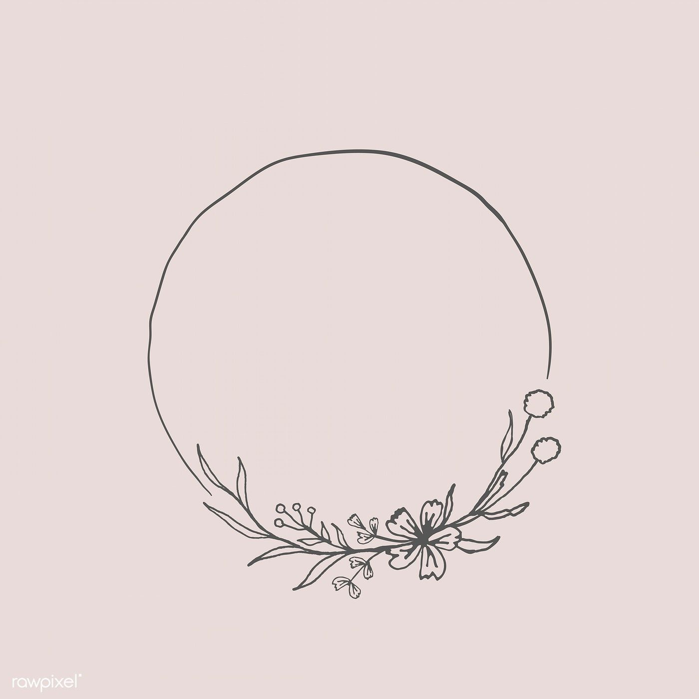 Photo of Download the premium vector of round floral frame element vector 935722