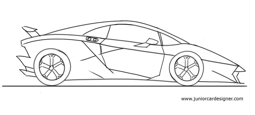 How To Draw A Lamborghini Sesto Elemento In 2019 Transport Design