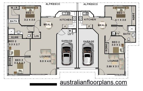 5 Bedroom Duplex House Plan 196du 3 X 2 Duplex Plans Australia Duplex Plans Australia Duplex Design Duplex Floor Plans Duplex Plans