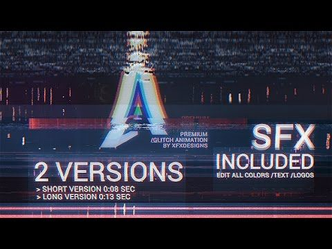 after effects template the ultimate glitch logo intro v2 fatal
