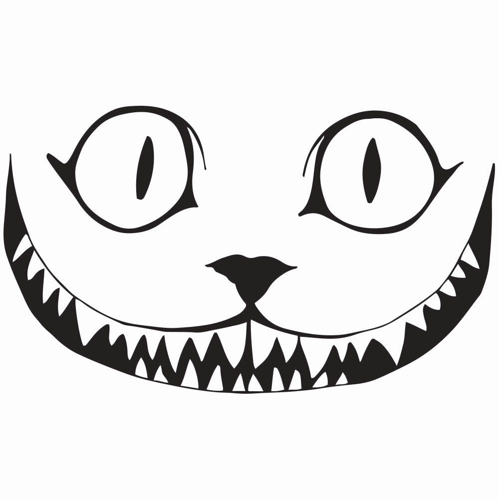 """Cheshire Cat Smile Decal, 5.5""""/7.5""""/11.5\"""