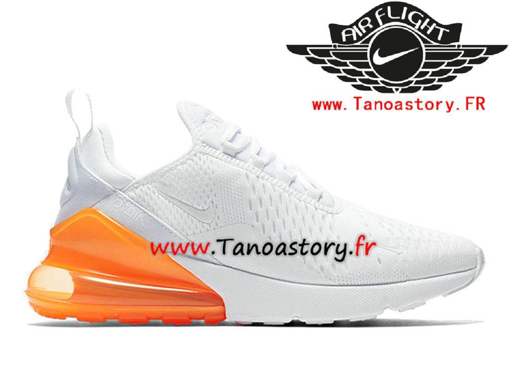 Chaussures Homme Nike Air Max 270 Prix Pas Cher Blanc Orange