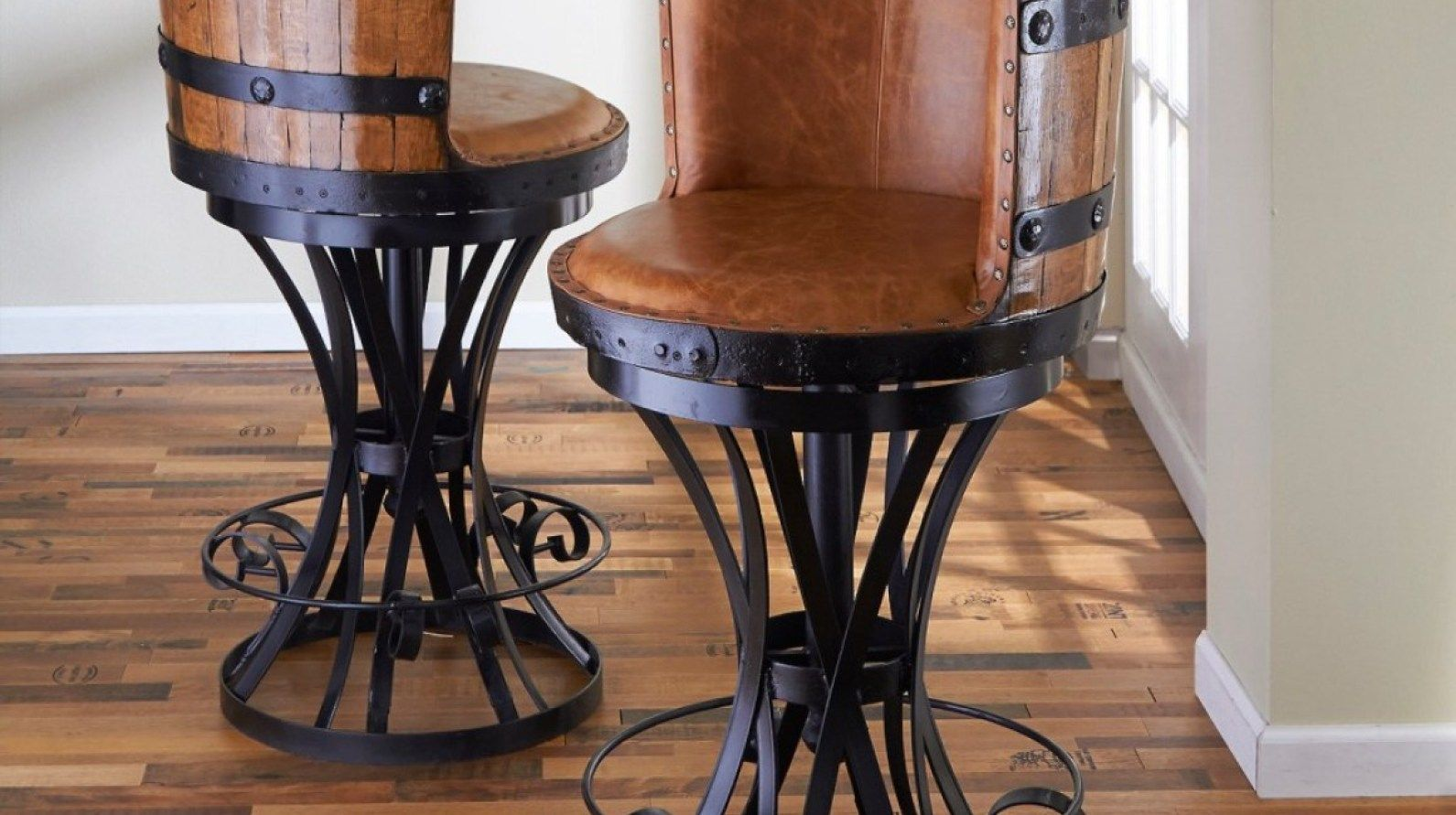 Incredible Metal Bar Stool Base Winery Wine Barrel Bar Stools Bar Gmtry Best Dining Table And Chair Ideas Images Gmtryco