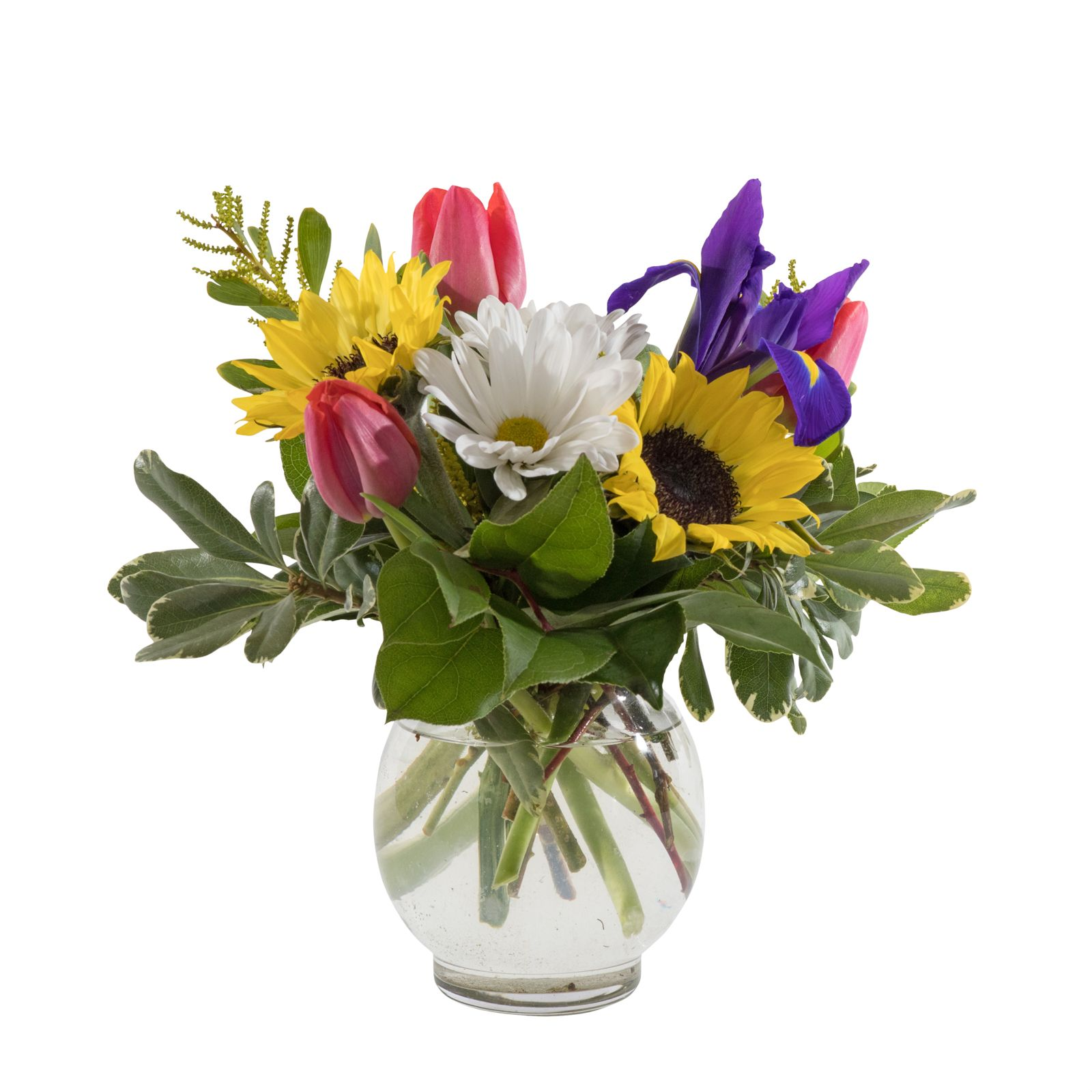 Good As Gold Iris Sunflowers Birthday Flowers Flowers Delivered Tall Vase Arrangements