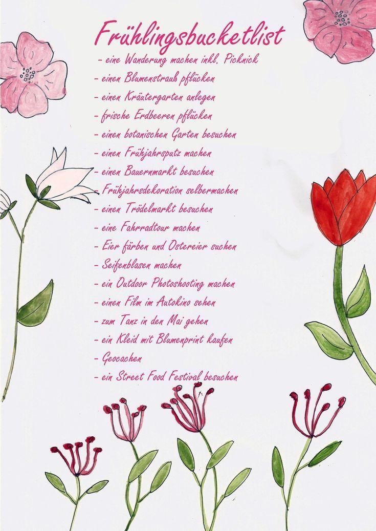 Frühlingsbucketlist mit Ideen und Inspiration für den perfekten Frühling. #Frühlingsbucketlist