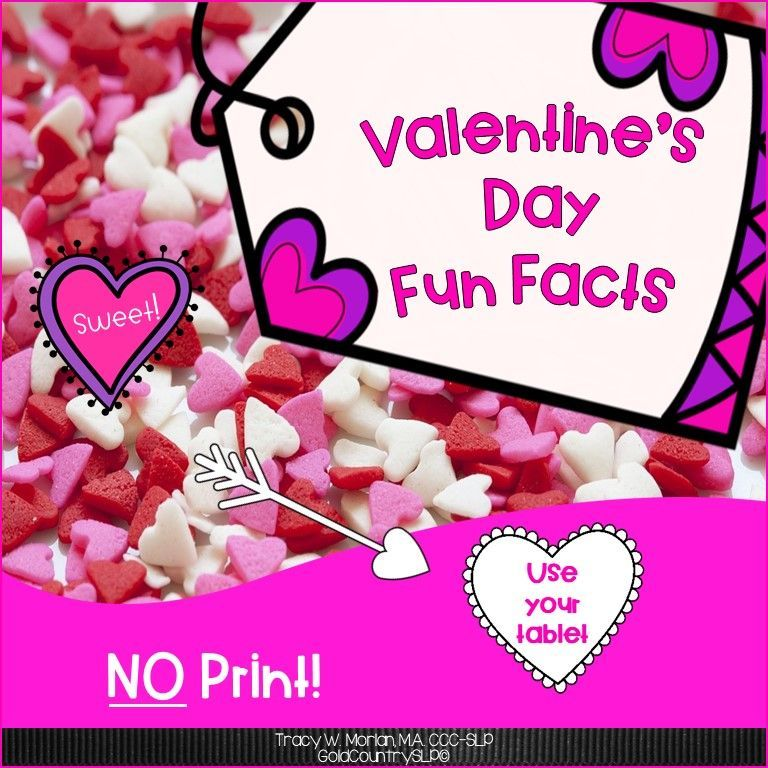 Designed for use on your tablet or SmartBoard! NO PRINTING! NO PREP! INTERACTIVE!! 24 Valentine Fun Facts and 24 Wh-questions to check for comprehension. Non-fiction.  #schoolslp #slpontpt #noprintspeechtherapy #slp2b