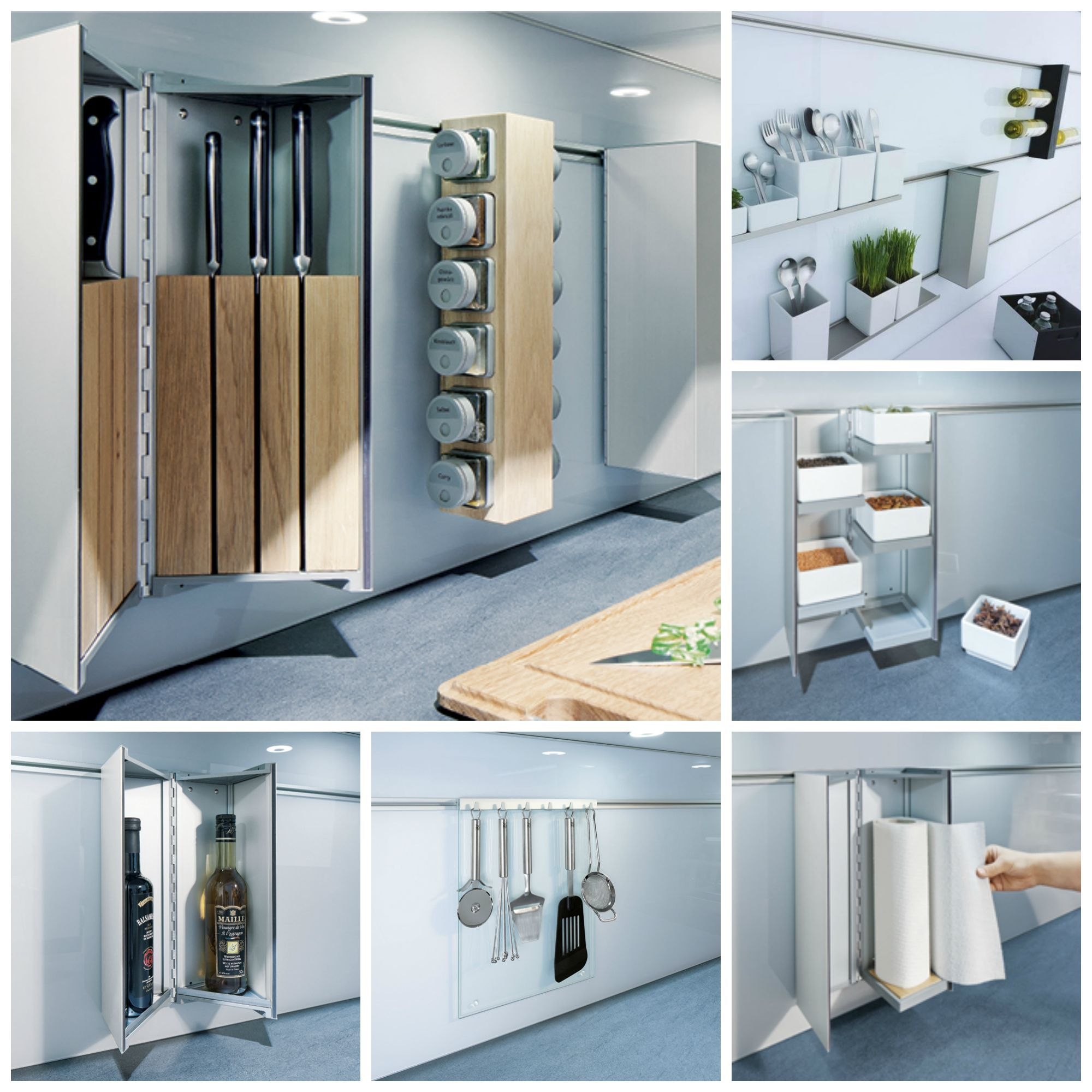 Maximise small spaces with our ingenius #kitchen storage solutions ...