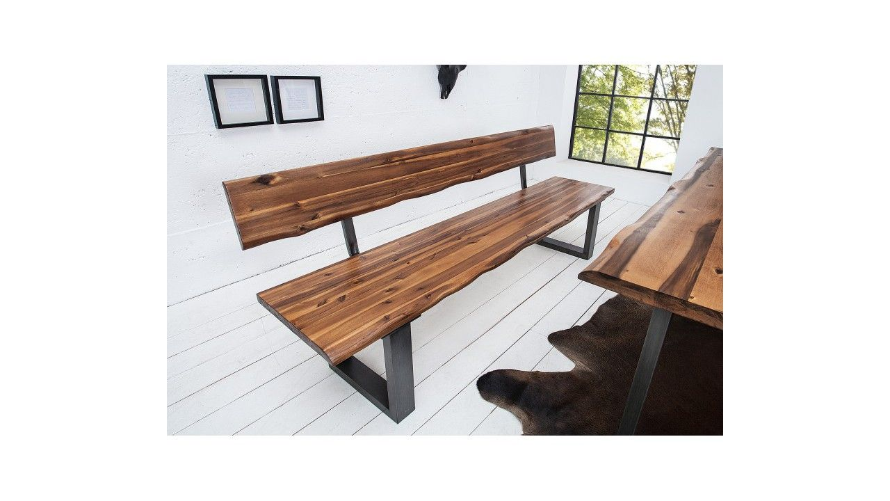 banc design bois avec dossier fabiano
