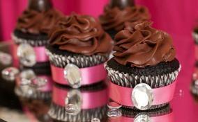 Glamorous Chocolate Truffle Cupcake Recipe