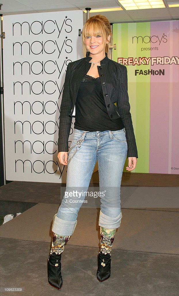 Lindsay Lohan during Lindsay Lohan and Miss USA 2003 Susie Castillo Judge 'Freaky Friday' Mother/Daughter Fashion Show at Macy's Herald Square in New York City, New York, United States.