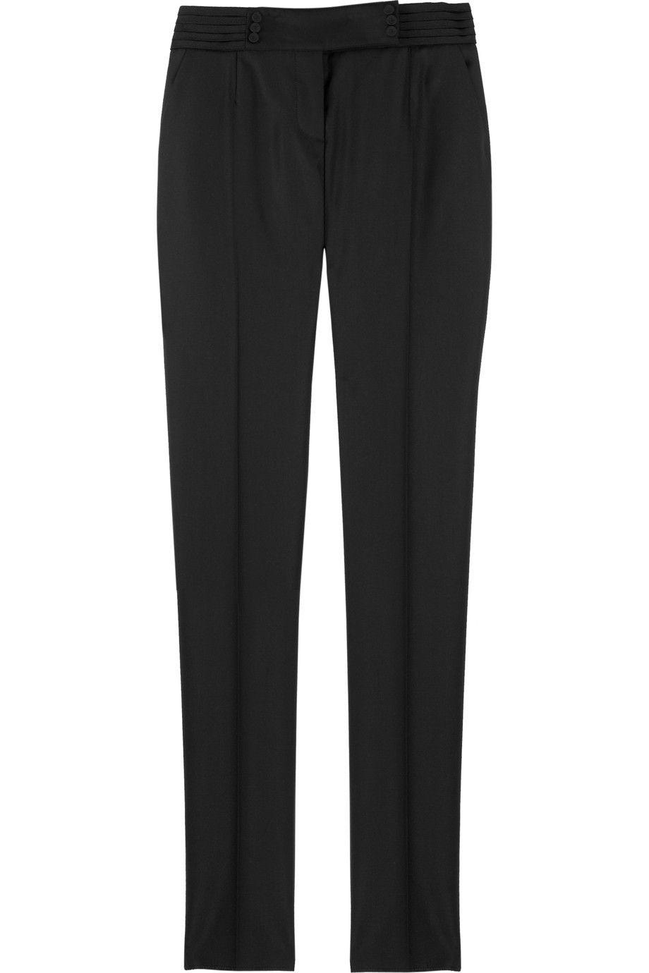 Me gusta los pantalones de esmoquin. Los pantalones es negro. Esto es para fiestas elegantes.
