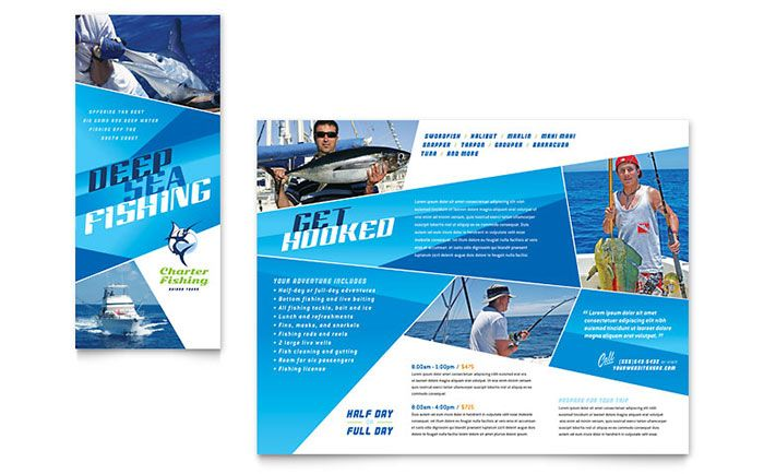Fishing Charter And Guide Brochure Design Template By Stocklayouts