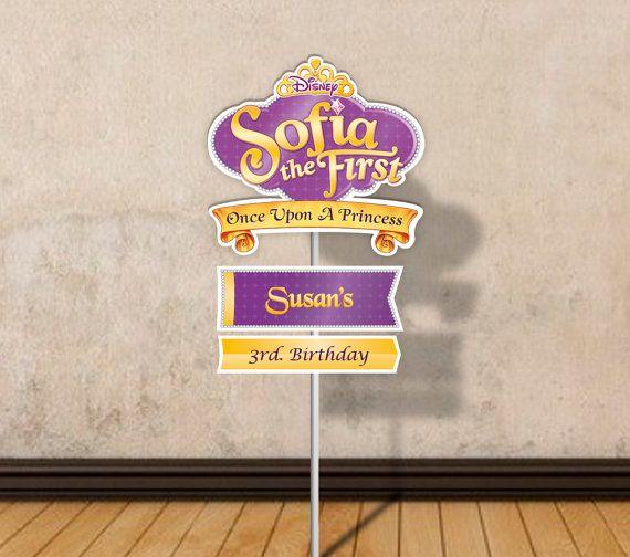 Signe de fête princesse Sofia imprimable par PartyPopPrints sur Etsy