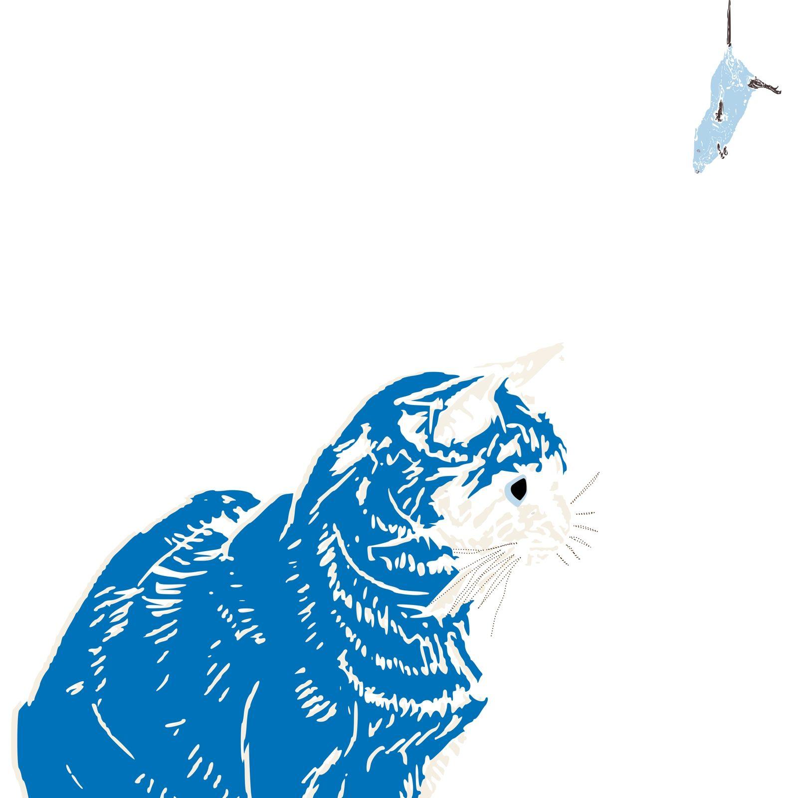 Katze Fangt Maus Schones Motiv Fur Das Kinderzimmer Auf Leinwand