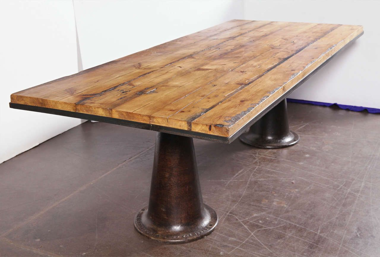 Double Pedestal Dining Table From A Unique Collection Of Antique