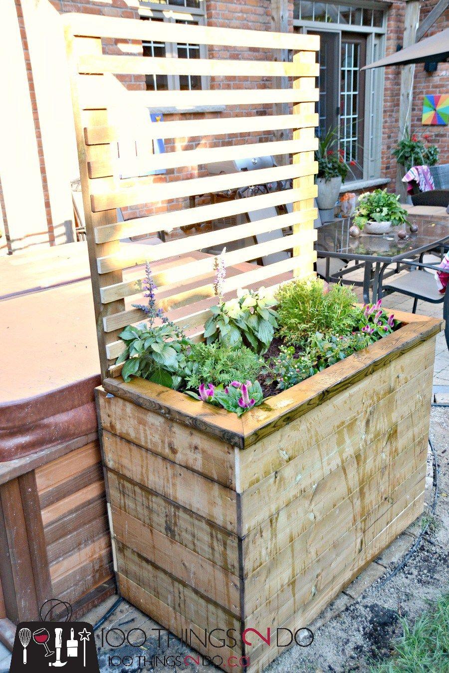 Diy Privacy Planter Diy Privacy Sceen Gardening Pinterest