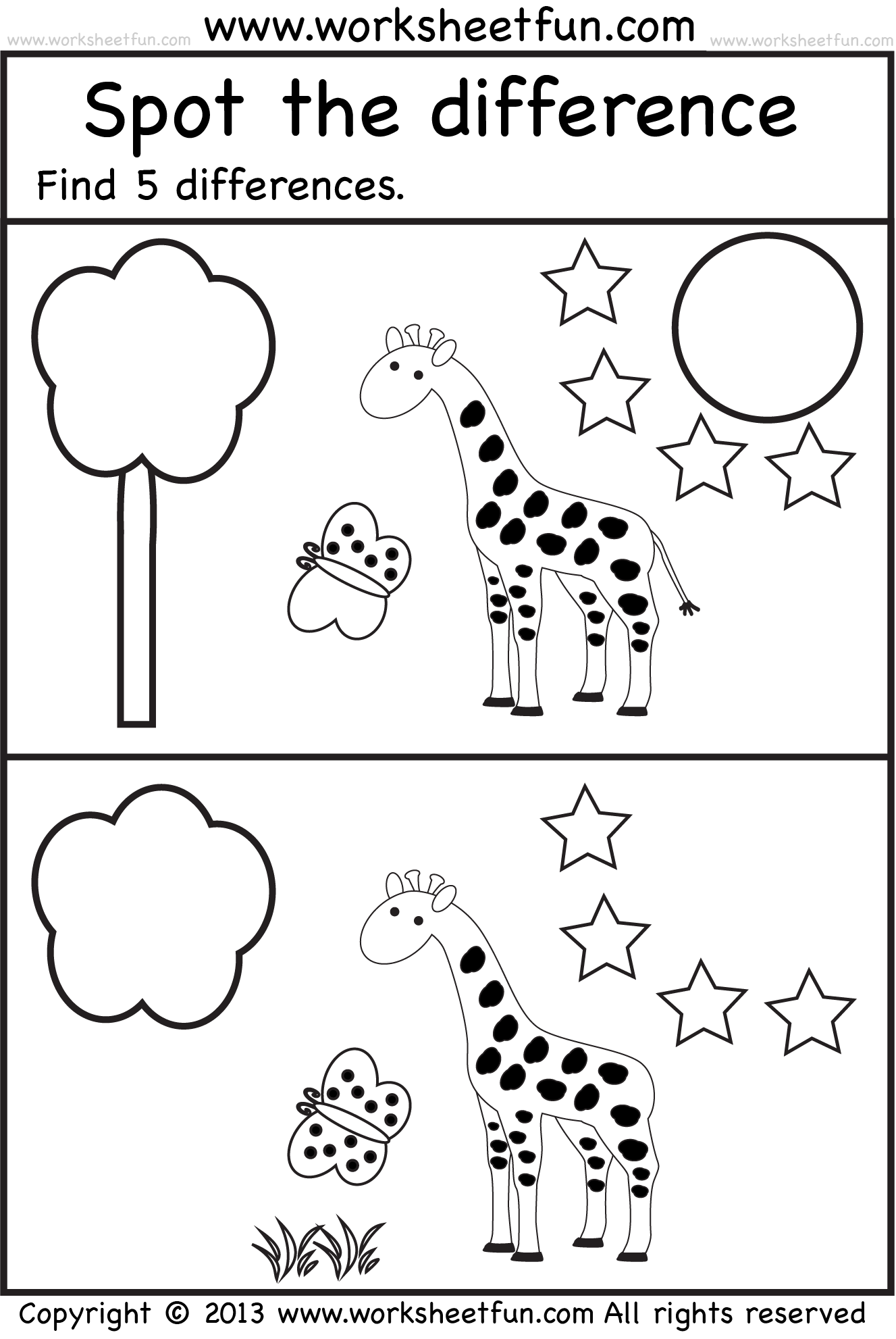 spot the difference – Spot the Difference Worksheets for Kindergarten