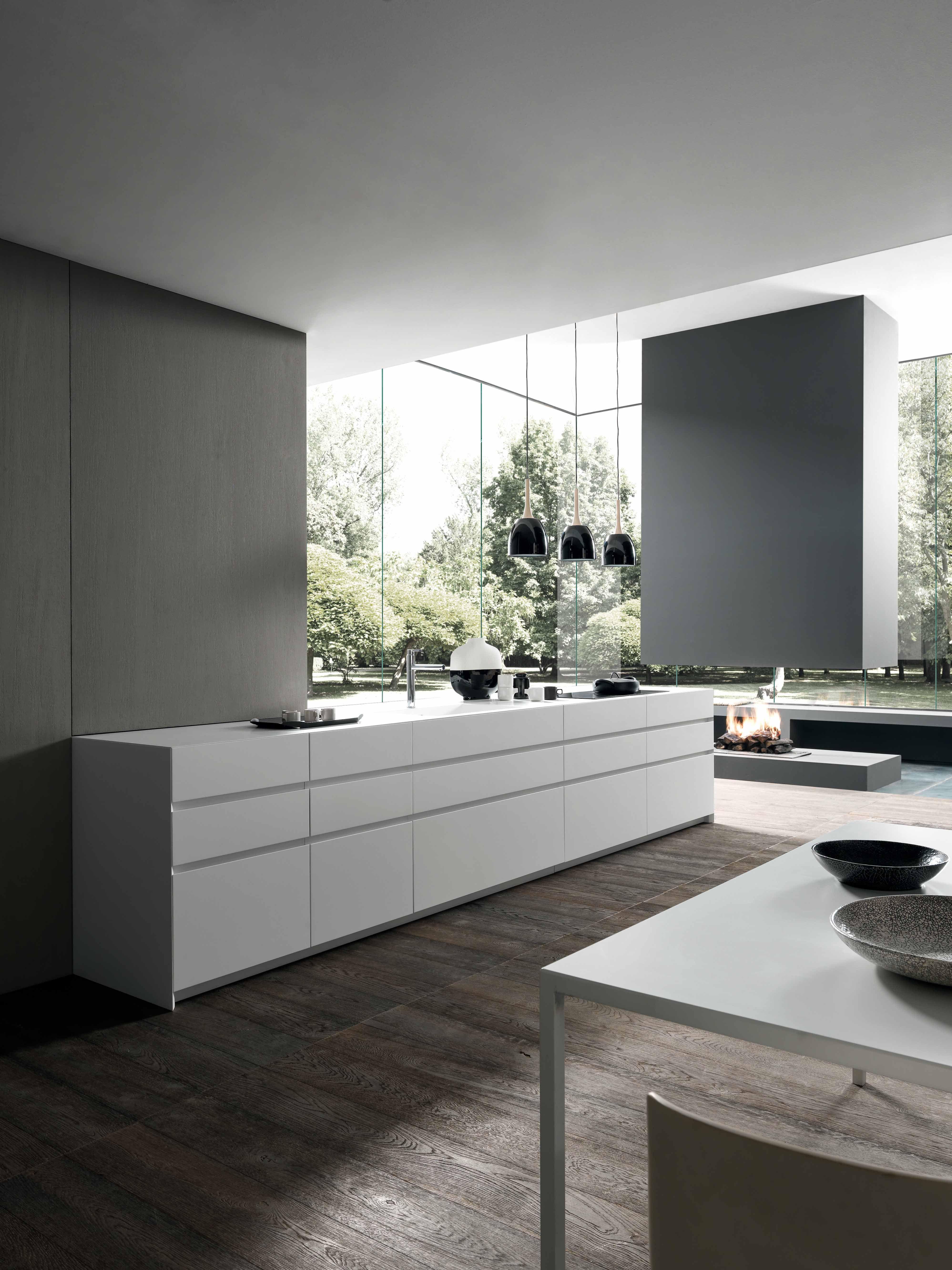 kitchen #cucine #modulnova #fossatiinterni #monlith #resin #fenix ...
