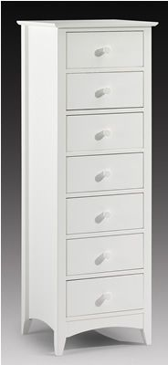 Best Treck White Stone Narrow Chest 7 Drawer Fully 400 x 300