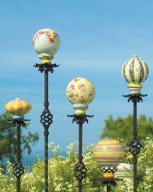 MacKenzie Childs Ceramic Garden Balls On Sticks. Oh, I Do Think Iu0027