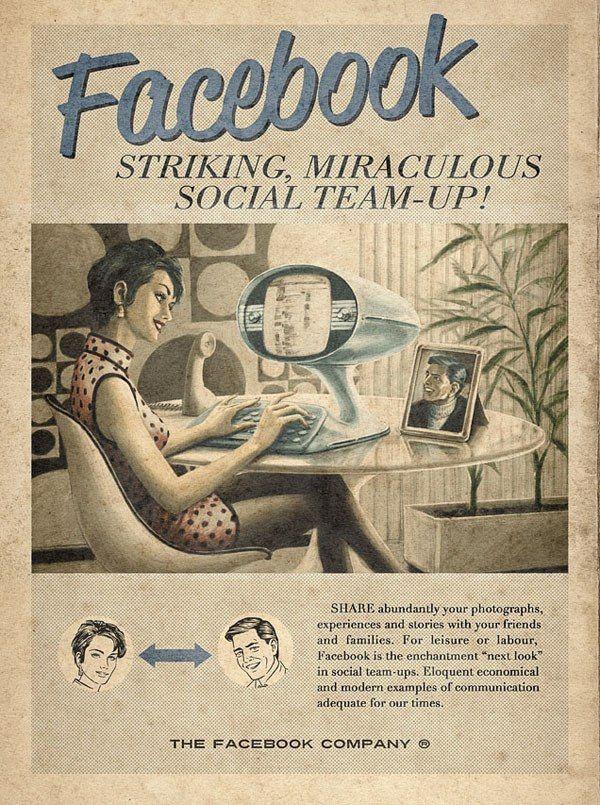 Facebook reklam ifrån 1950, ja nästan då