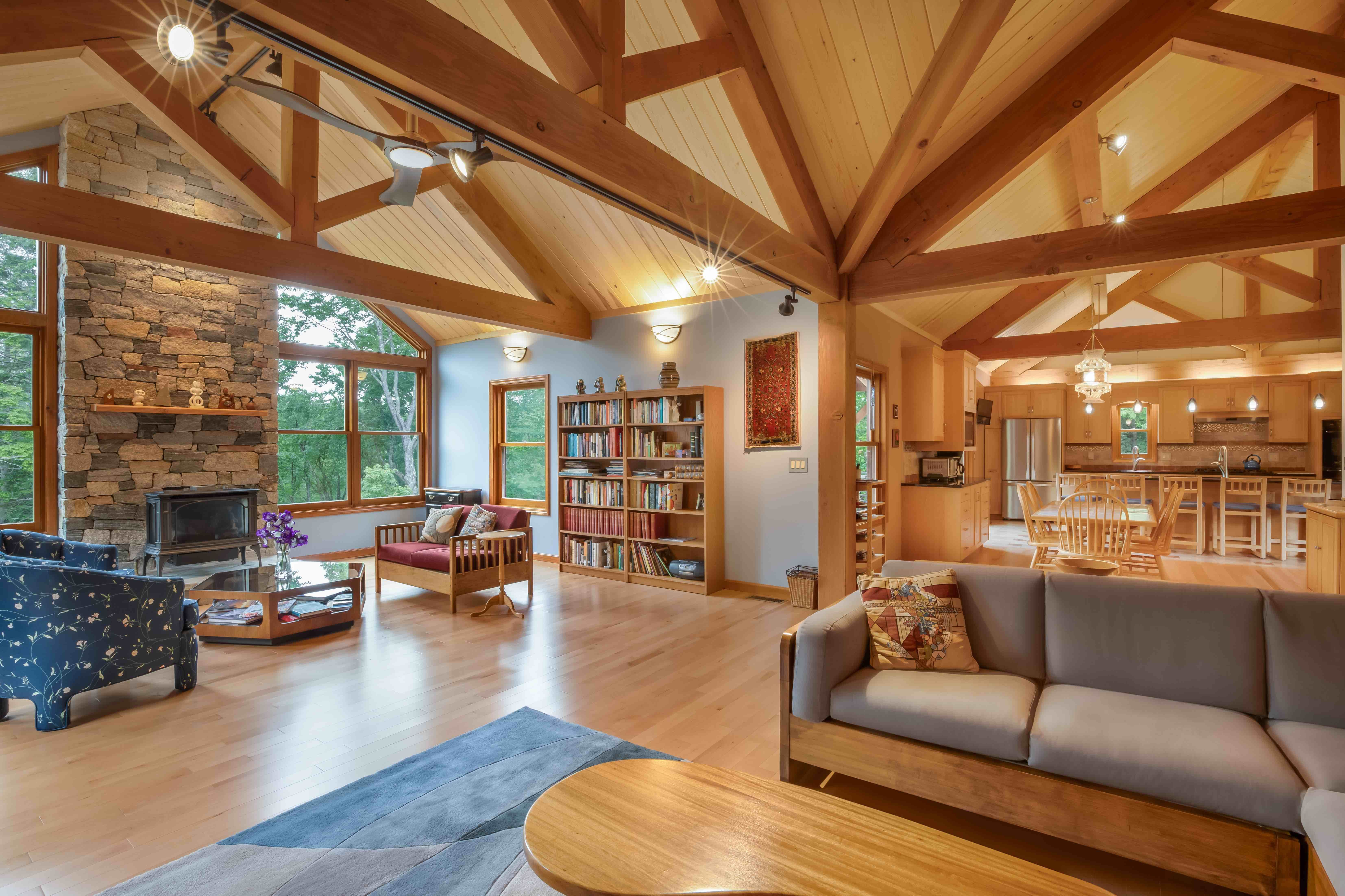 Single Story Post And Beam Granite Ridge Barn House Interior Single Story House Floor Plans Barn House Plans