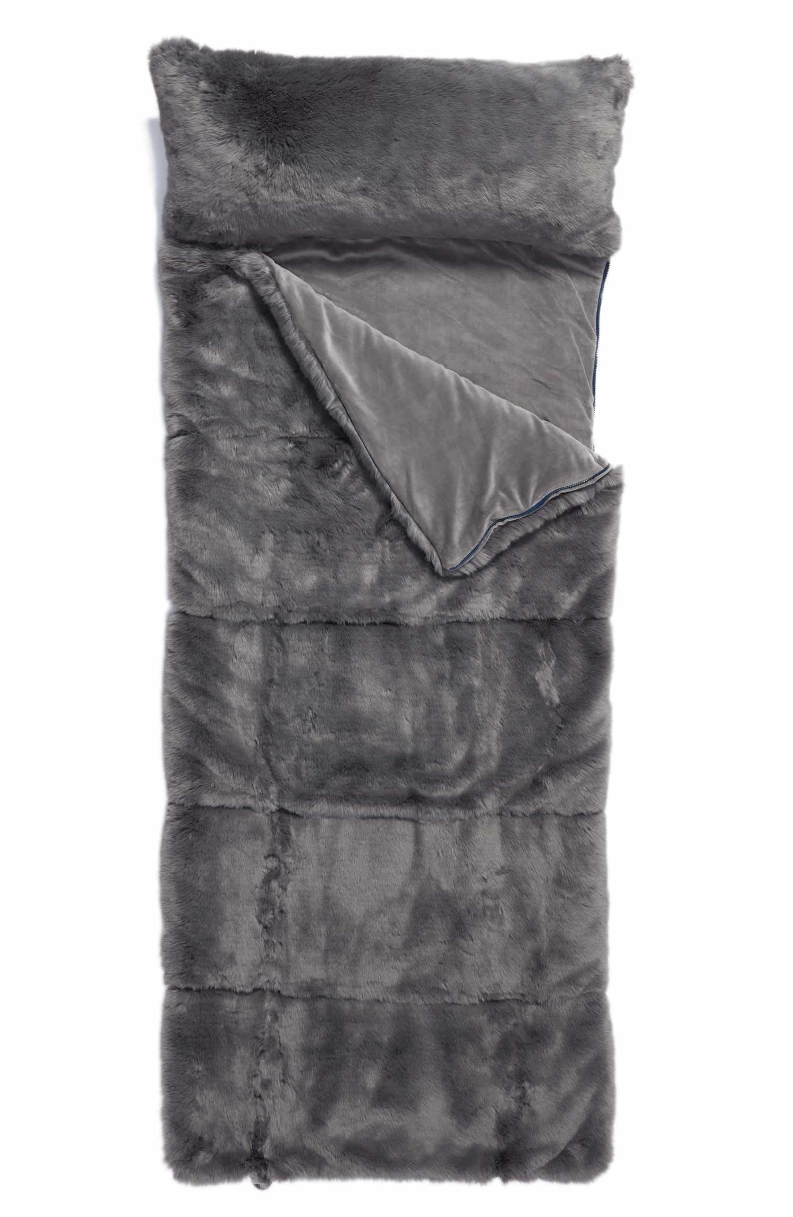 9b510142f5 Main Image - Nordstrom at Home Cuddle Up Faux Fur Sleeping Bag ...
