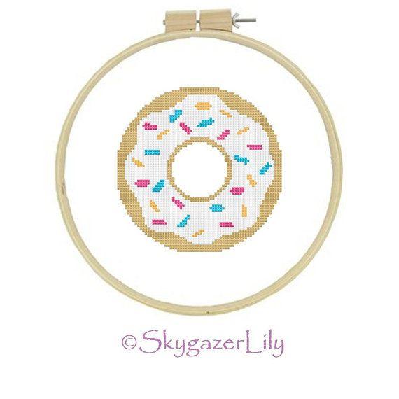 Instant Download Cross Stitch Pattern Cake Donut by SkygazerLily, $3.00