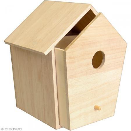 Nichoir à tiroir en bois - 15 x 13,5 cm - Photo n°1