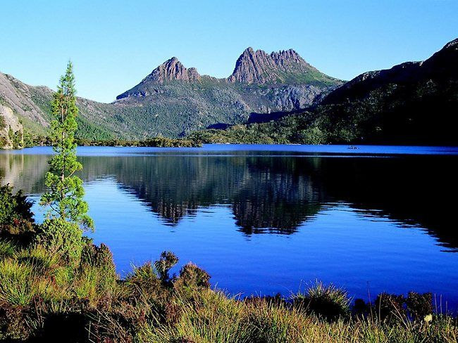 Crater Lake in front of Cradle Mountain, Tasmania   - Explore the World with Travel Nerd Nici, one Country at a Time. http://TravelNerdNici.com