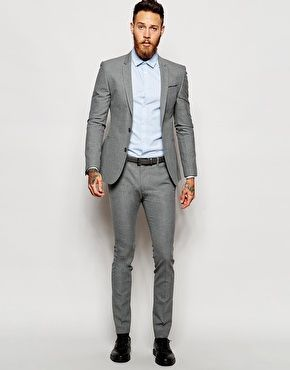 ASOS Super Skinny Suit in Gray | Male Fashion | Pinterest | ASOS ...