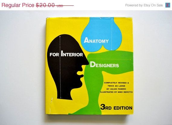 Anatomy For Interior Designers Julius Panero 1962 Book Cover Design Interior