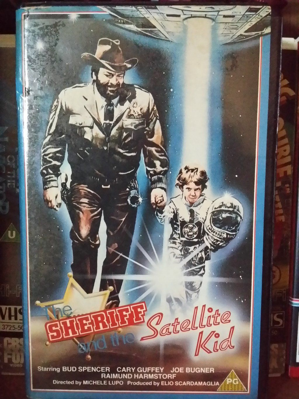 """The Sci-Fi Shed on Twitter: """"Final Ex-rental #VHS find of the day is THE SHERIFF AND THE SATELLITE KID...Dedicated to Astronaut @astro_timpeake https://t.co/uX5cH0kgf3"""""""