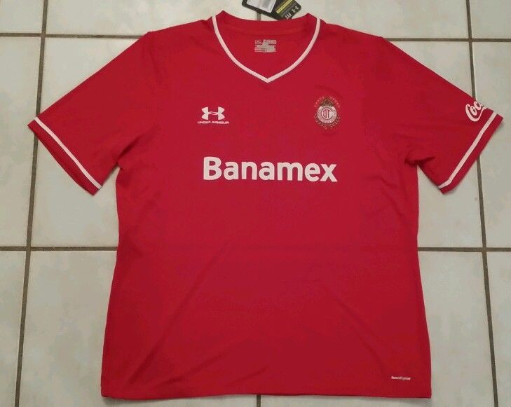 6d4df88ee4c NWT UNDER ARMOUR Deportivo Toluca F.C. Mexico Soccer Jersey Men s 3XL