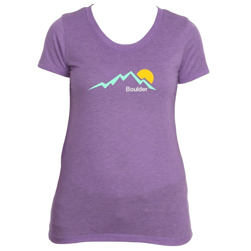Boulder, Colorado Mountain Sunset - Women's T-Shirt