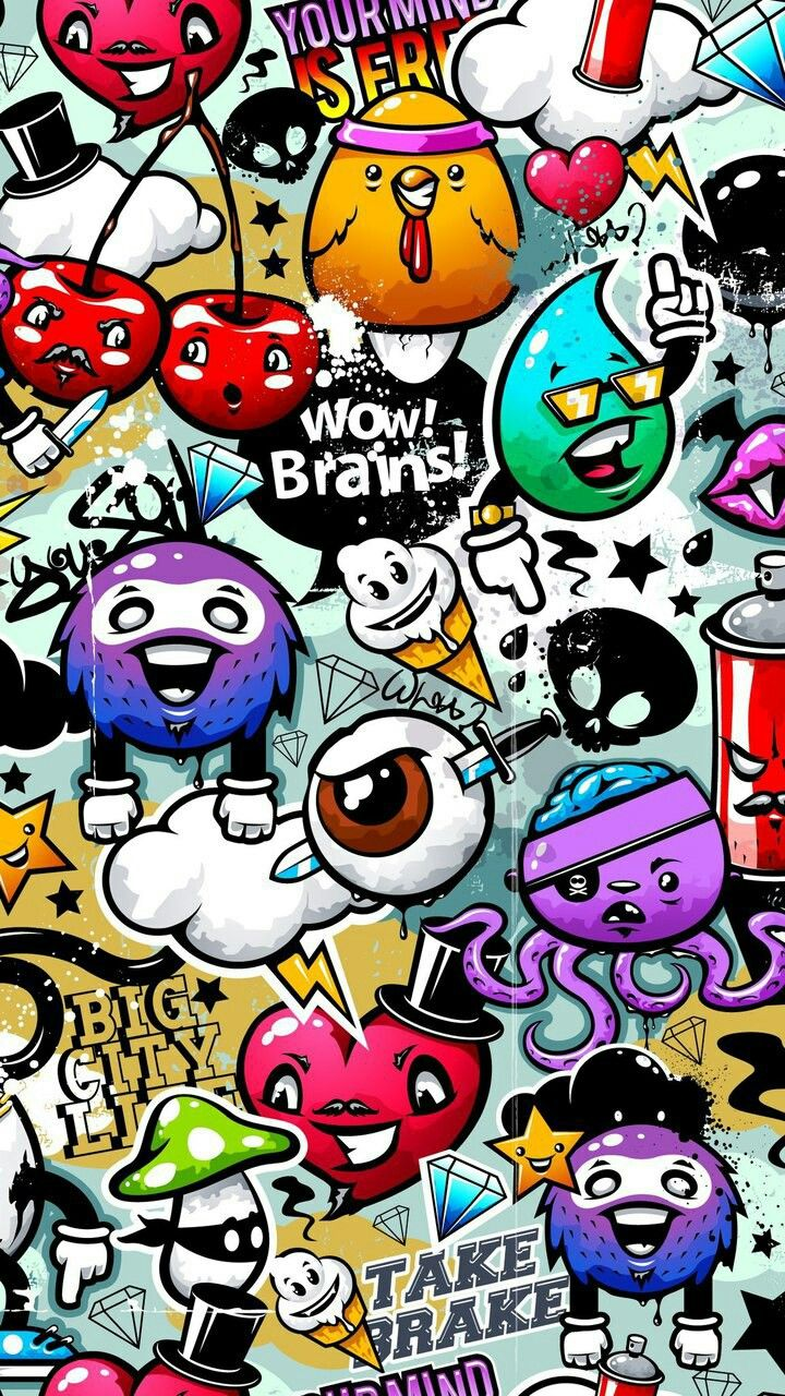 Graffiti art wallpaper iphone - Find This Pin And More On Wallpaper Fundo De Tela Bloqueio De Tela By Chardilene