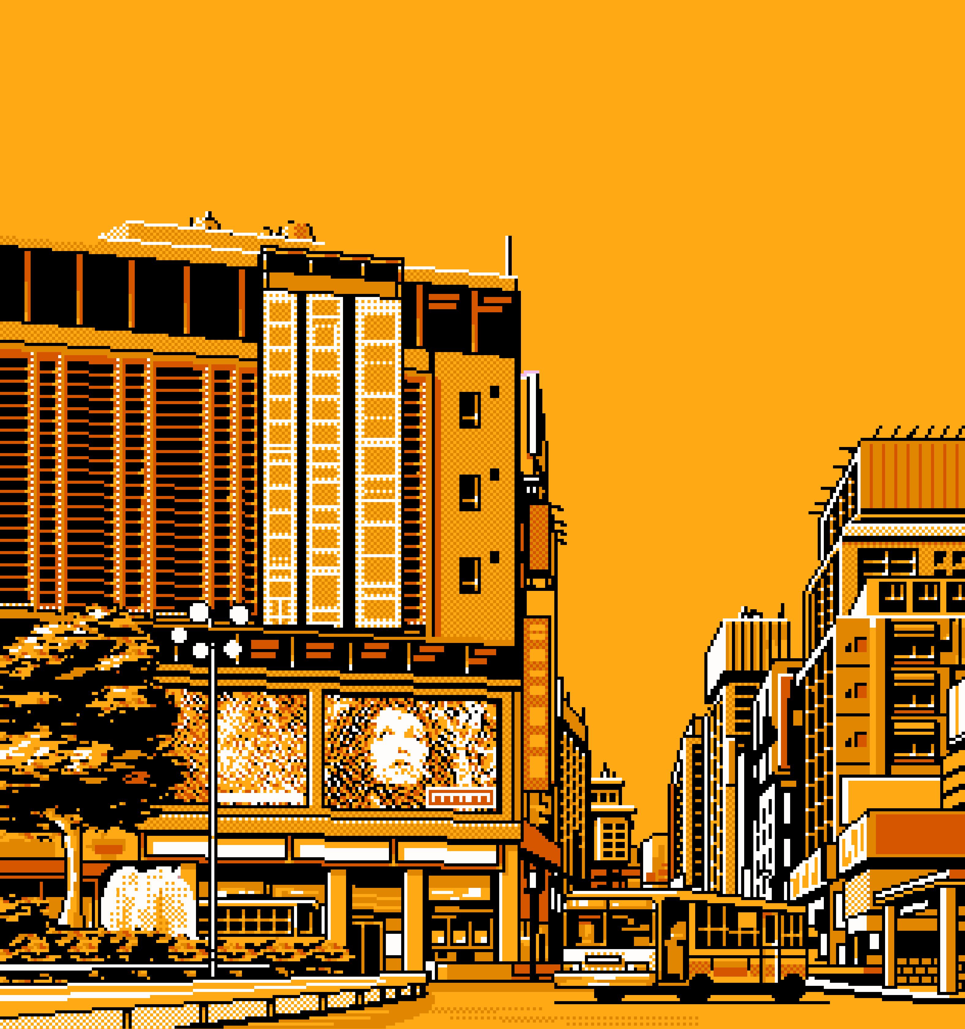 City Orange Grid Paint