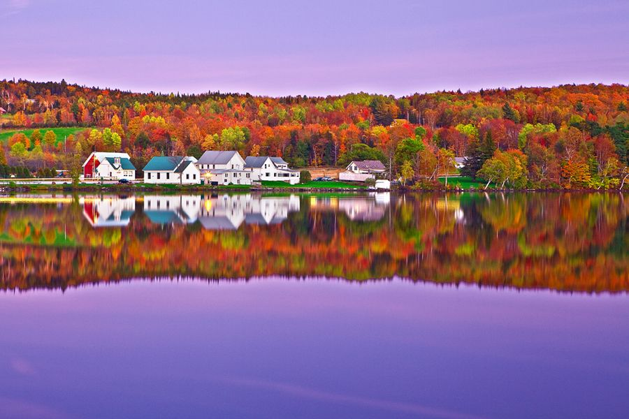 Lake Elmore Vt >> Vermont Lake Elmore Foliage Fall Colors Moonlight By Ya Zhang On