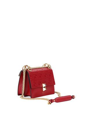 3a560f0bc3 Fendi Kan I Small Liberty FF Embossed Shoulder Bag